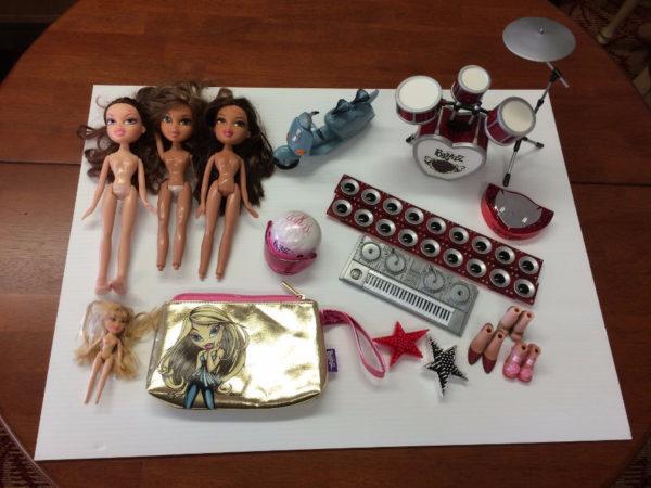 Bratz Dolls and Assorted Accessories.