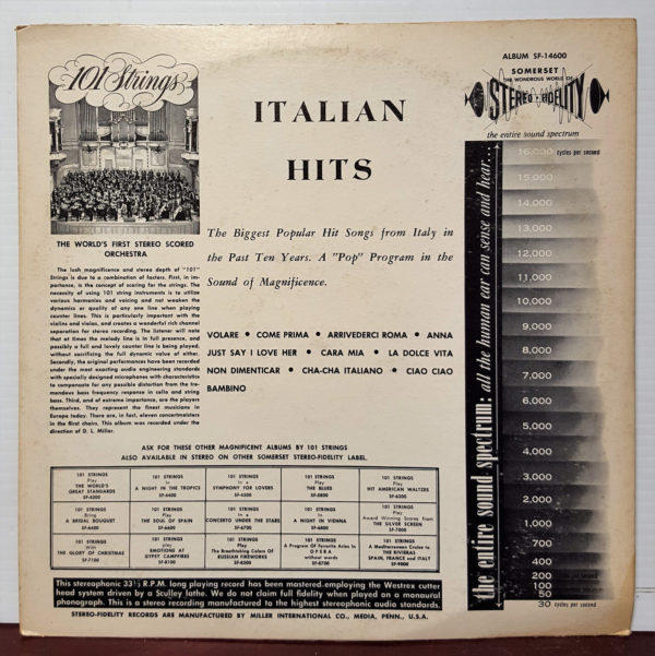 101 Strings - Italian Hits 1961