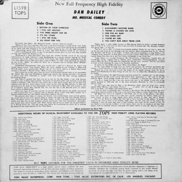 Dan Dailey - Mr. Musical Comedy 1957