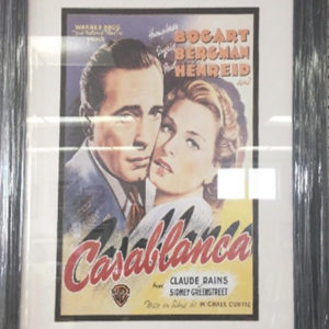 Framed Casablanca Movie Picture