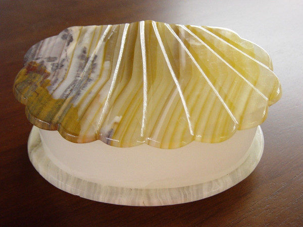 Marble Shell Trinket Box
