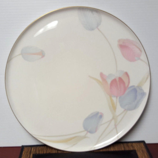 Mikasa Floral Cake Plate with Serving Knife