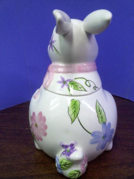 Rabbit with Pink Goody Jar