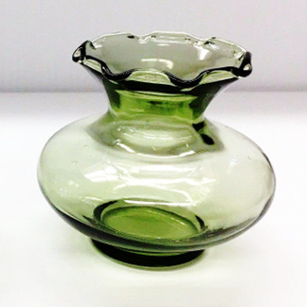 Vintage Light Green Glass Bud Vase