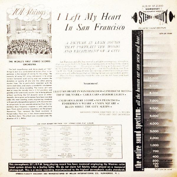 101 Strings - I Left My Heart in San Francisco