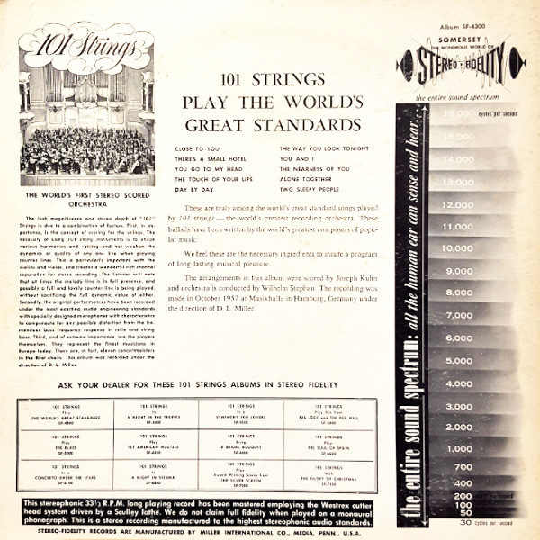 101 Strings - Play the Worlds Great Standards