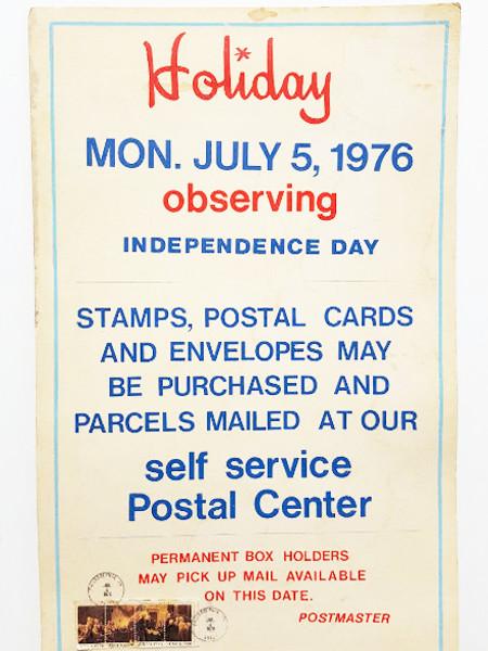 1976 Bicentennial Philadelphia Post Office Holiday Observance Poster