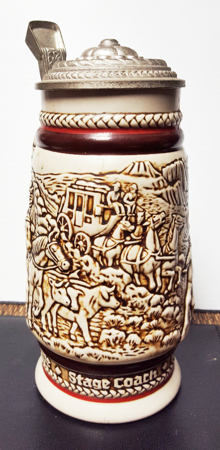1980 Avon Brazilian Made Lidded Beer Stein