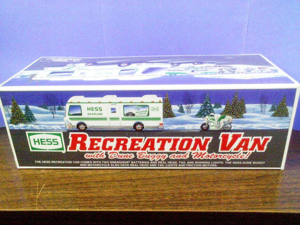 1998 Hess Toy Recreation Van with Dune Buggy and Motorcycles