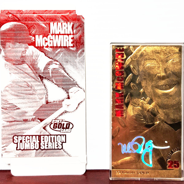 1998 Mark Mcgwire 23kt Special Edition Jumbo Gold Card