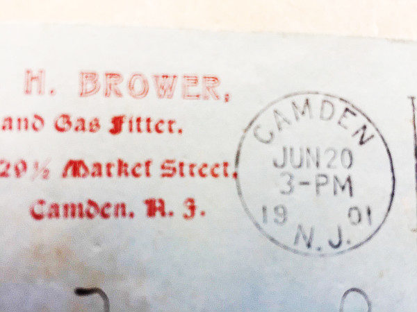 2 Cent Fast Express Train Stamp Used Post Marked 1901 On Envelope Pan American