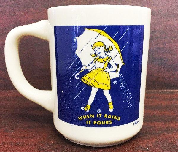 4 Vintage Morton's Salt Tea Mugs