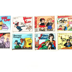 8 Comic Stamps Krazy Kay Nancy Barney Google