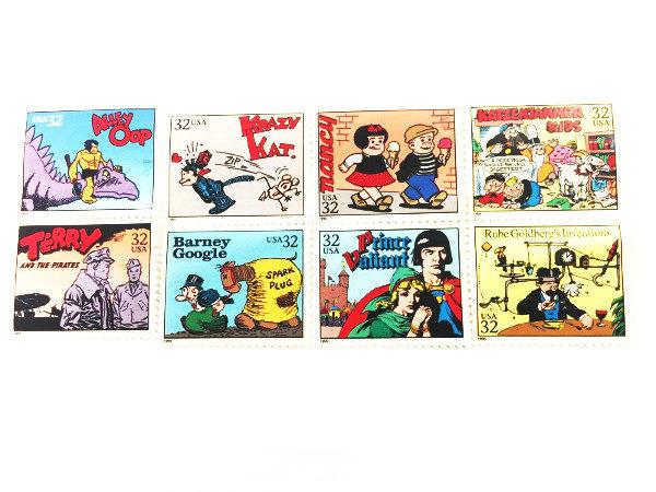 8 Comic Stamps Krazy Kay Nancy Barney Google
