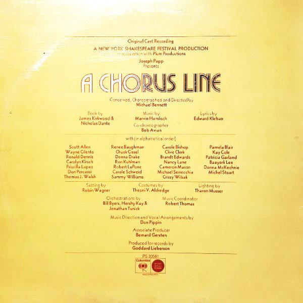 A Chorus Line Original Cast Recording