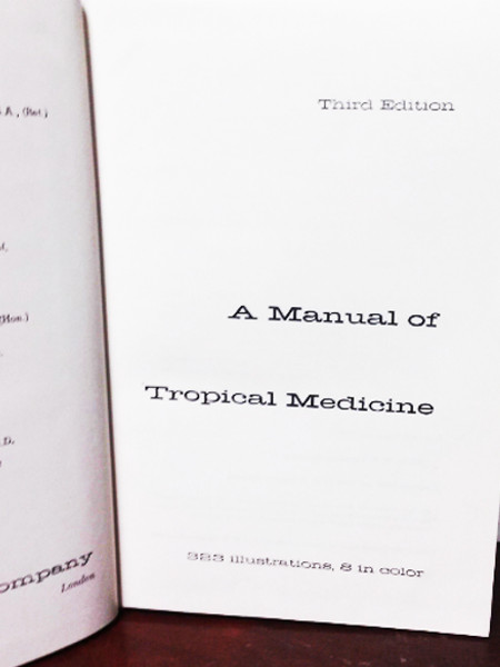 A Manual of Tropical Medicine 1961 Third Edition