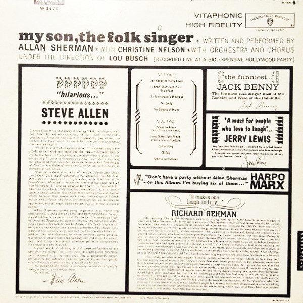 Allan Sherman - My Son The Folk Singer