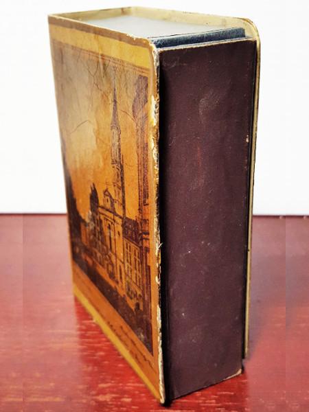 Antique Vintage Painted Metal Matchbox Holder