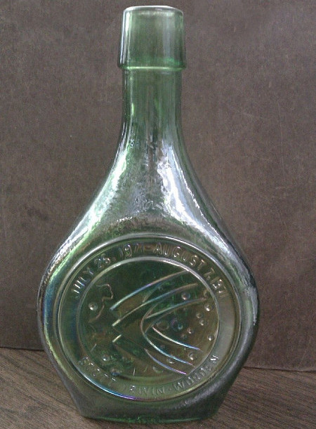 Apollo 15 - The Merry Moonmobile - Green Glass Decanter