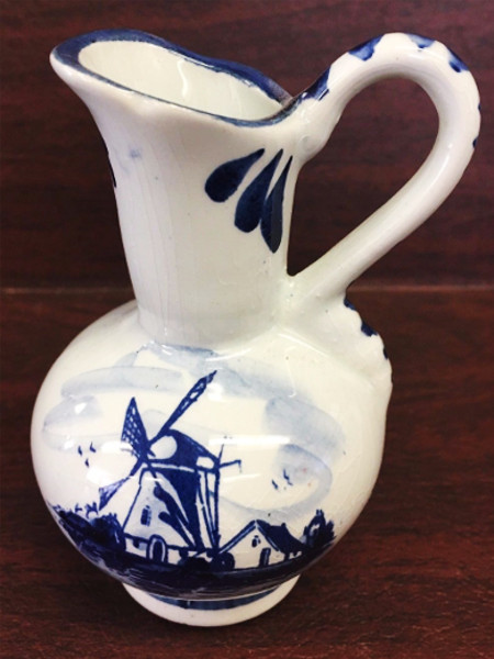 Blue Delft Hand painted windmill pitcher Holland
