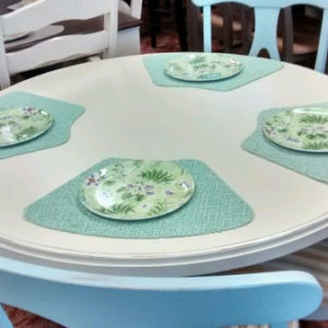"Canadel Island Harbor Solid Birch 48"" Round Table and 4 Chairs"