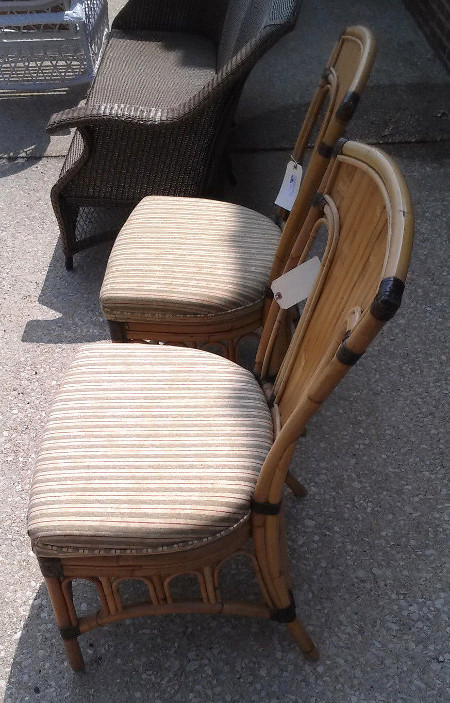 Pair of Lane Venture Majaro Rattan Dining Chairs
